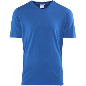 Bergans Bloom Wool Bluzka z krótkim rękawem Mężczyźni niebieski